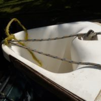 Parker 505 Spinnaker chute with roller reefing - complete bow section.